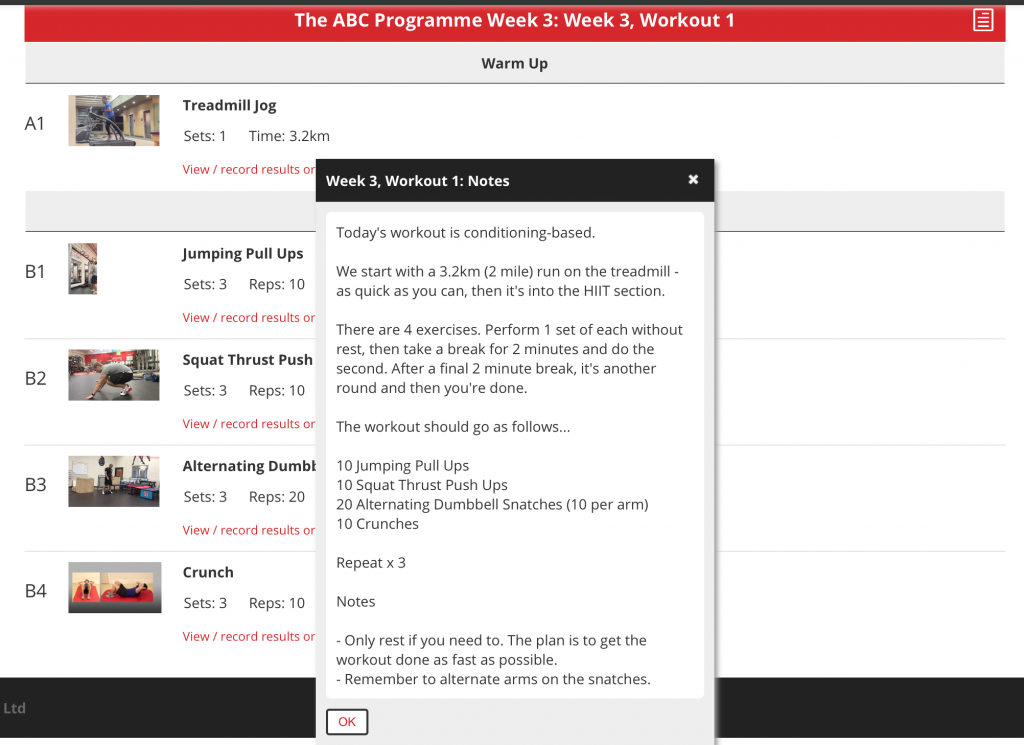 ABC Programme Notes, benefits of online training