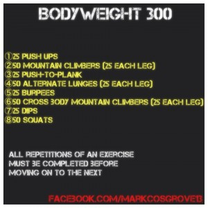 Mark Cosgrove Workout