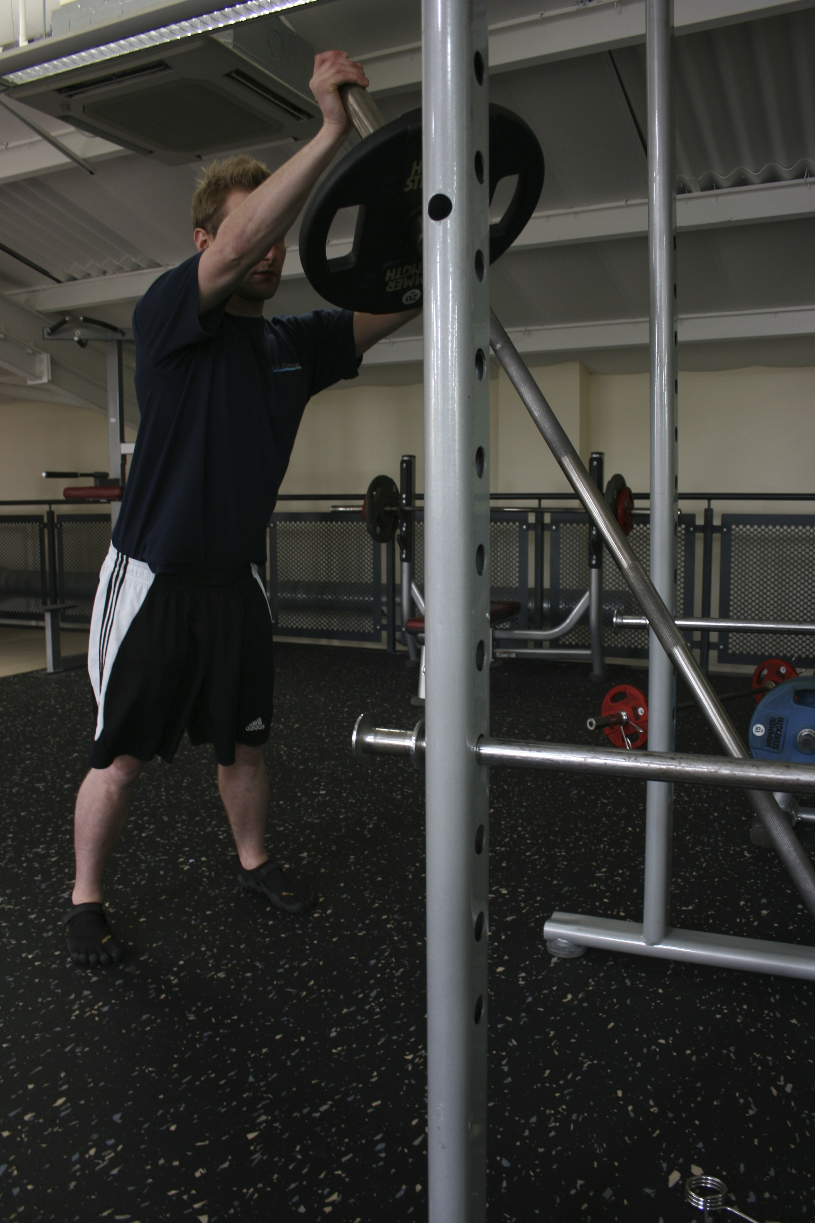 Single Arm Barbell Push, Uni-Lateral Exercise, Uni-Lateral Training