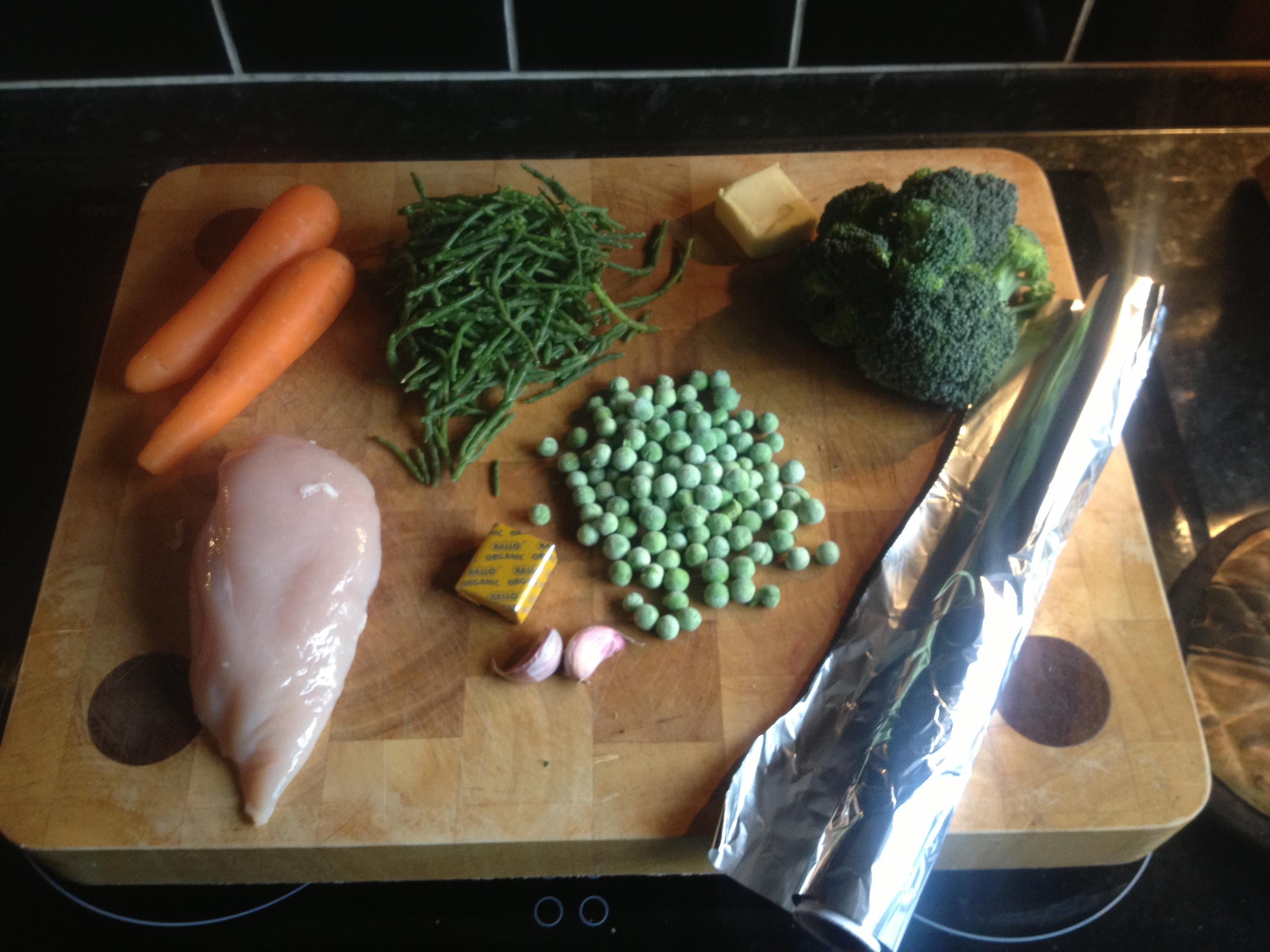 Chicken, Paleo, The Handy Plan, chicken in a parcel recipe