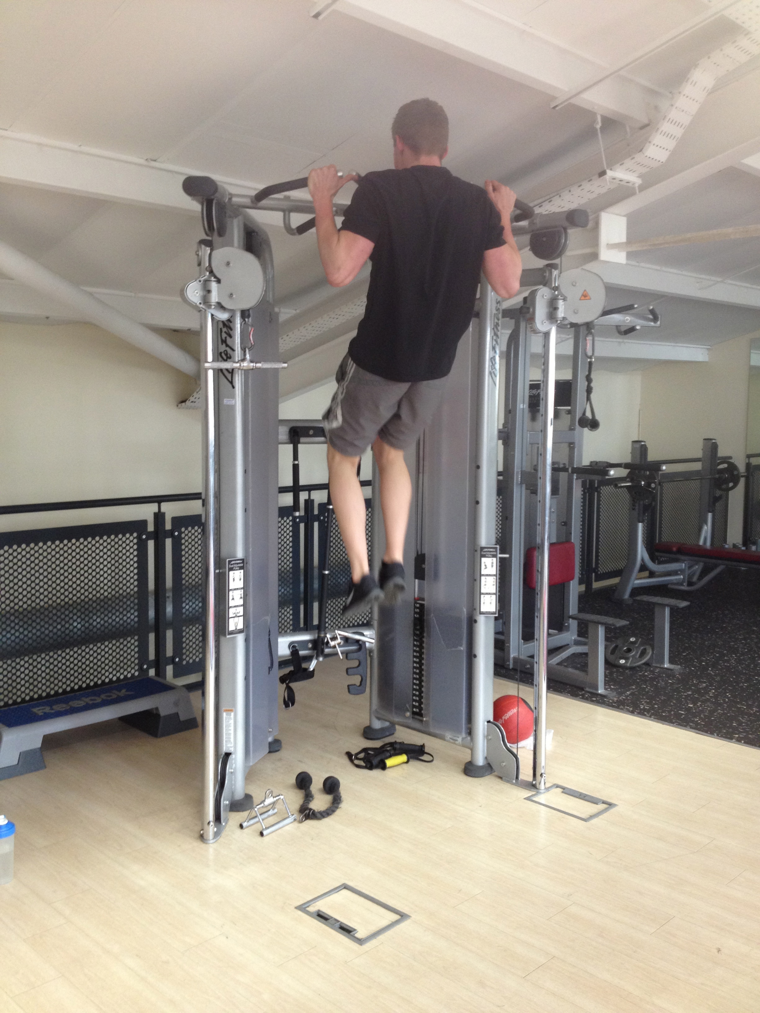 20 minutes to fitness, chin ups, pull ups, high intensity circuit training