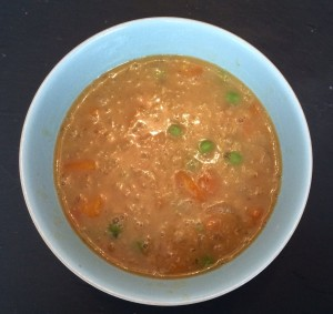 ham, vegetable and lentil soup