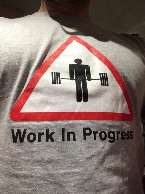new years resolutions, fitness wear house, work in progress tshirt
