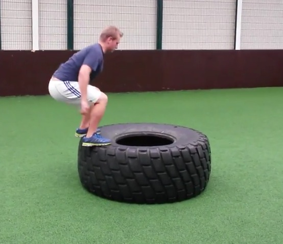 hiit tyre workout, HIIT workouts, tire flip