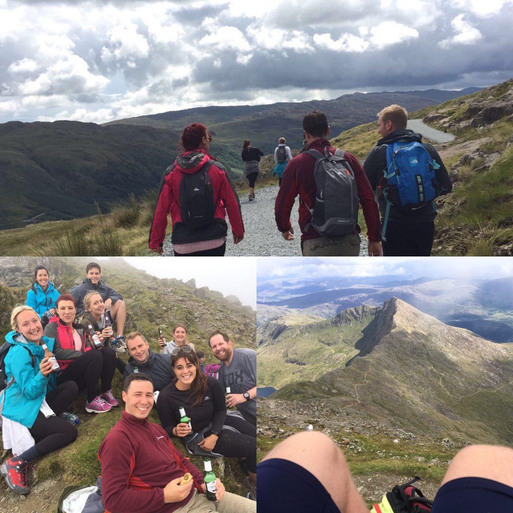 Snowdon climb, exercise